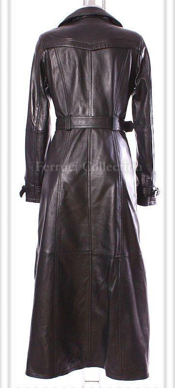 hot sales better beauty Felicia Black Ladies Womens Leather Full Length Coat
