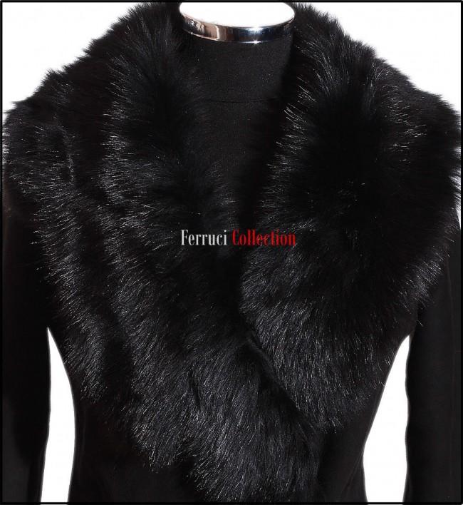 Monica Black Ladies Short Spanish Toscana Marino Sheepskin Leather ...